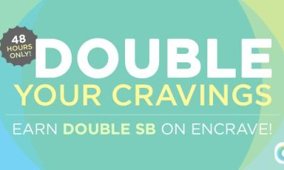 Double your cravings! Earn double the points on Encrave offers on Swagbucks today & tomorrow!