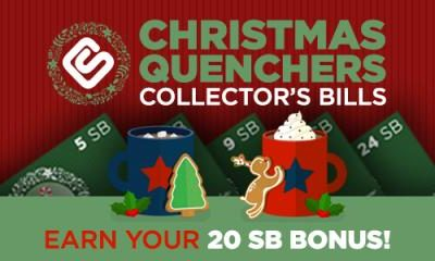 Christmas Quenchers Collector's Bills at Swagbucks