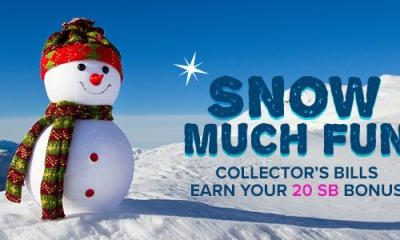 Snow Much Fun Collector's Bills at Swagbucks