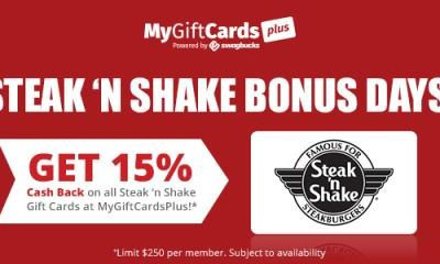 Steak 'N Shake Bonus Days at Swagbucks