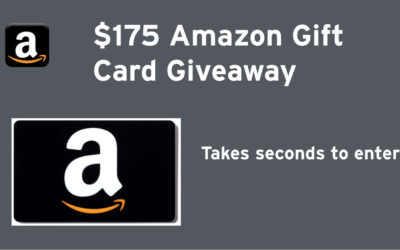Dropprice $175 Amazon Gift Card Giveaway • Ends Aug 6