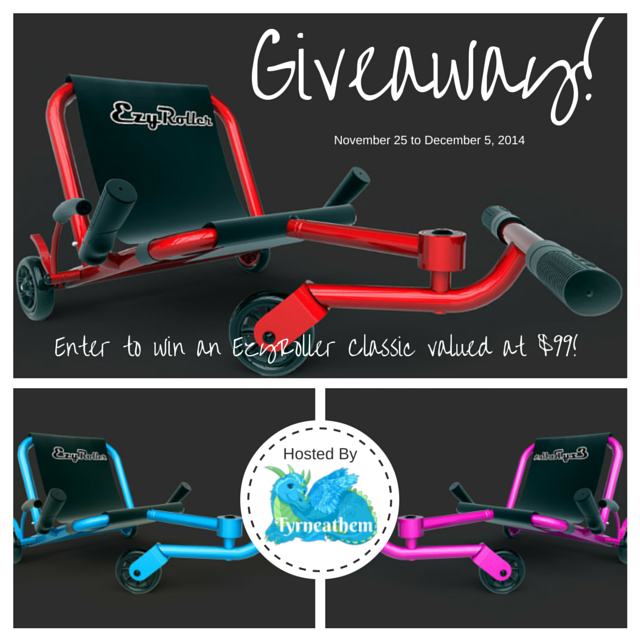 Enter the EzyRoller Giveaway. Ends 12/5.