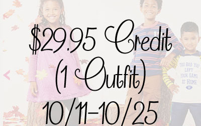 ENDING SOON! FabKids Fall #giveaway! Enter to #win a $29.95 credit… enough for one whole outfit… at FabKids! (Ends Oct 25)