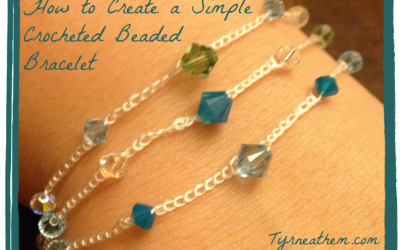 How to Create a Simple Crocheted Beaded Bracelet