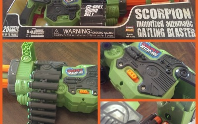 {Holiday Gift Guide Review} Dart Zone Scorpion Gatling Blaster