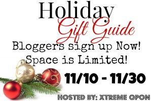 Bloggers wanted for the Xtreme Qpon Holiday Gift Guide giveaway! #BlogOpp (Begins Nov 10)