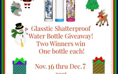 {Giveaway} Glasstic Shatterproof Water Bottle ♥ Did you win? Ends December 7th. Open to Continental US residents ages 18+ only.