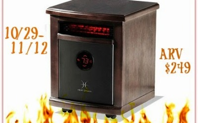 Home is Where the Heat Is #giveaway! Enter to #win a Logan Portable Infrared Heater valued at $249! (Ends Nov 12)