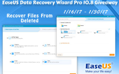 Enter to Win the #EaseUS Data Recovery Wizard Pro Giveaway with 20 Winners ⚬ Ends January 30