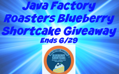 Java Factory Roasters Blueberry Shortcake Giveaway (Congrats, Stephanie!)