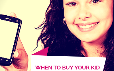 When to Buy Your Kid a Cell Phone