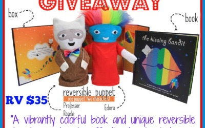 A #giveaway that will steal your heart! Enter to #win the Kissing Bandit book, box and puppet! (Ends Oct. 1)