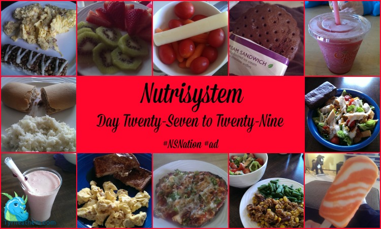 Nutrisystem Day Twenty-Seven to Twenty-Nine