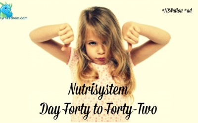 Nutrisystem Day Forty to Forty-Two