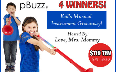 pBuzz Musical Instrument Giveaway with 4 Winners (Congrats, Amanda, Meredith, Crystal & Katie!)