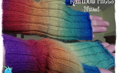 {Finished Object} Rainbow Mitts