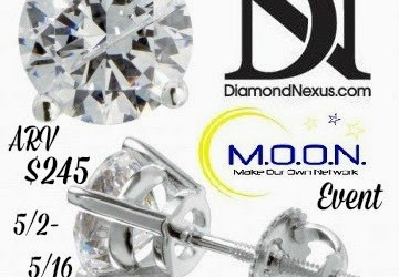 {Bloggers Wanted} Always a Girl's Best Friend ~ Diamond Nexus Round Cut Stud Earrings (Begins May 2)