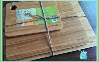 {Review} Surpahs ~ Bamboo Cutting Board Set & Thinner Digital Kitchen Scale