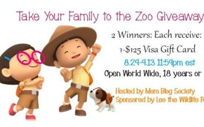 Take Your Family to the Zoo $125 VISA Gift Card Giveaway with 2 Winners (Congrats, Ashley & Kristen!)