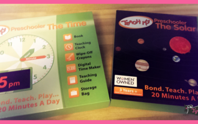 {Back to School Review} Teach My Preschooler The Solar System & The Time Educational Kits