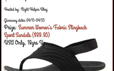 Therafit Summer Women's Fabric Slingback Sport Sandals Giveaway (Winner to be Announced)