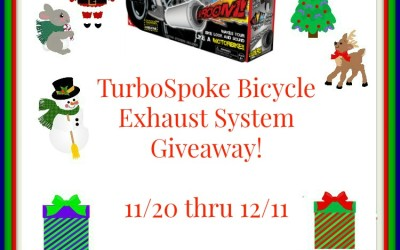 {Giveaway} TurboSpoke Bicycle Exhaust System ♥ Did you win? Ends December 11th. Open to Continental US residents ages 18+ only.