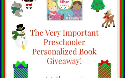 {Giveaway} The Very Important Preschooler Personalized Book ♥ Did you win? Ends December 7th. Open to Continental US residents ages 18+ only.