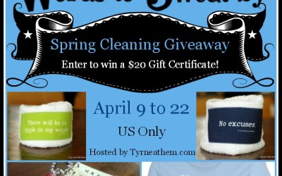 LAST CHANCE! {Giveaway & Promo Code} Spring Cleaning with Words to Sweat By ~ $20 Gift Certificate (Apr 9 to 22/ US Only)