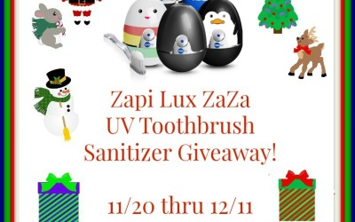 {Giveaway} VioLife Zapi Lux UV Toothbrush Sanitizer ♥ Did you win? Ends December 11th. Open to Continental US residents ages 18+ only.