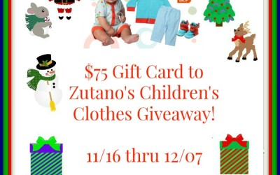 {Giveaway} $75 Zutano's Children's Clothing Gift Card ♥ Did you win? Ends December 7th. Open to Continental US residents ages 18+ only.